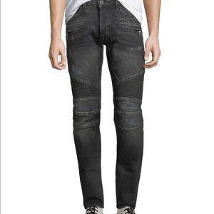 Boys Sz 12 Hudson Blinder Distressed Biker Jeans